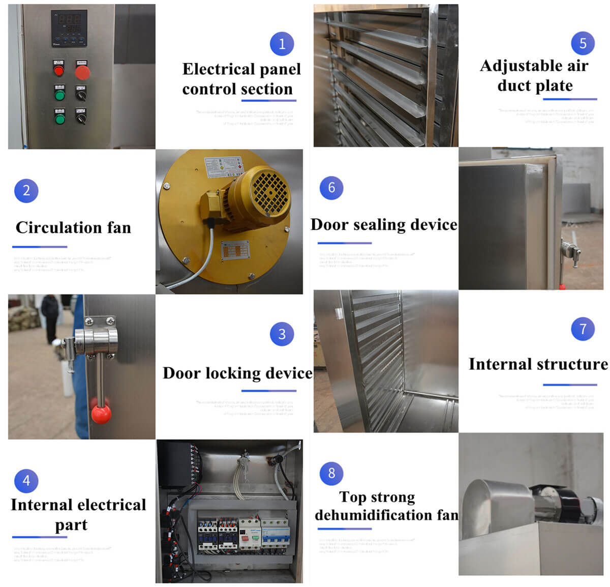 Features of Our Hot Air Seafood Drying Machine