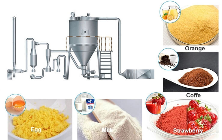Fruit Powder Products Made by Spray Dryer Machine