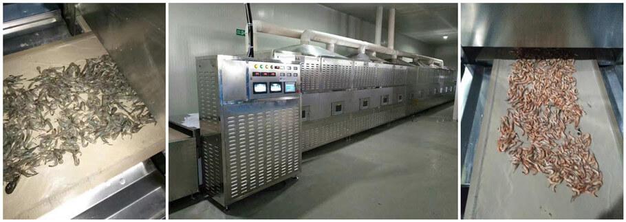 microwave seafood drying machine