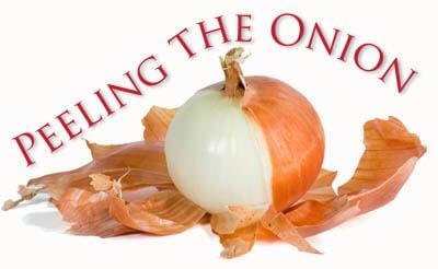 peeling onion